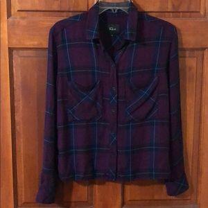 Rails Purple Plaid Button Down Shirt